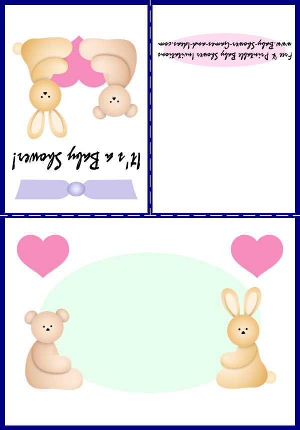 Baby Animal Shower Invitation 1C