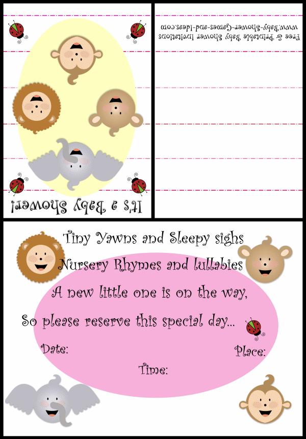 Baby Animal Shower Invitation 2b