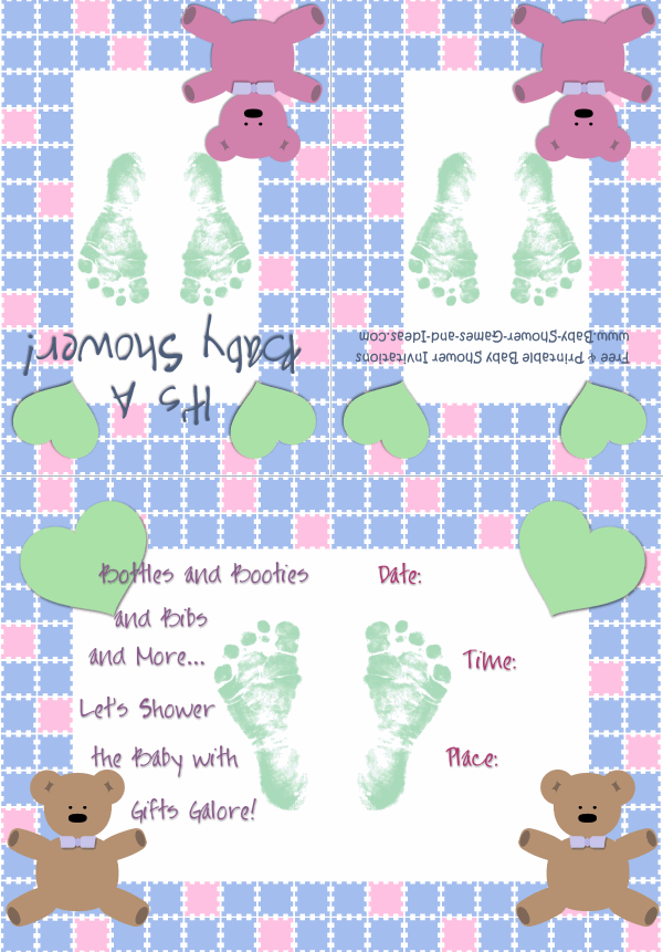 Baby Boy Shower Invitation 2A