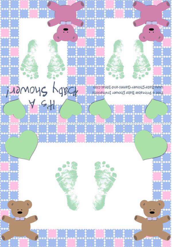 Baby Boy Shower Invitation 2C