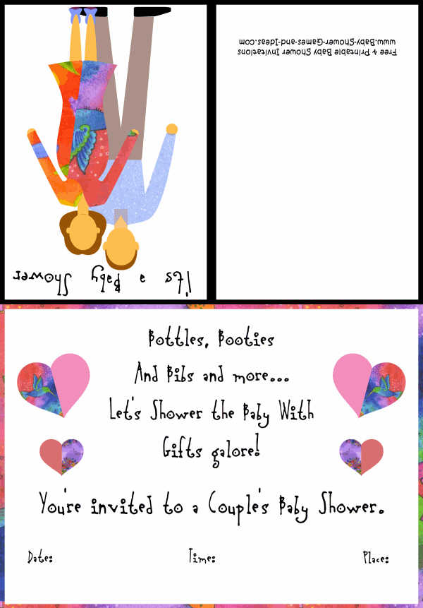 Couples Baby Shower Invitation 1A