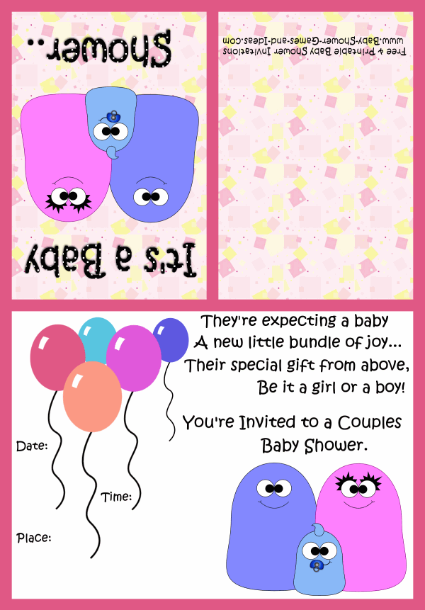 Couples Baby Shower Invitation 3B
