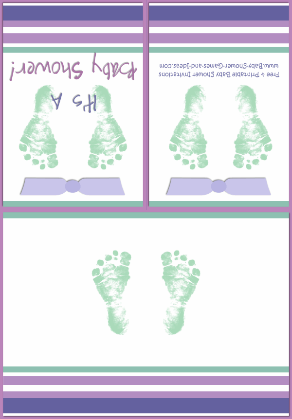 Baby Footprint Shower Invitation 2C