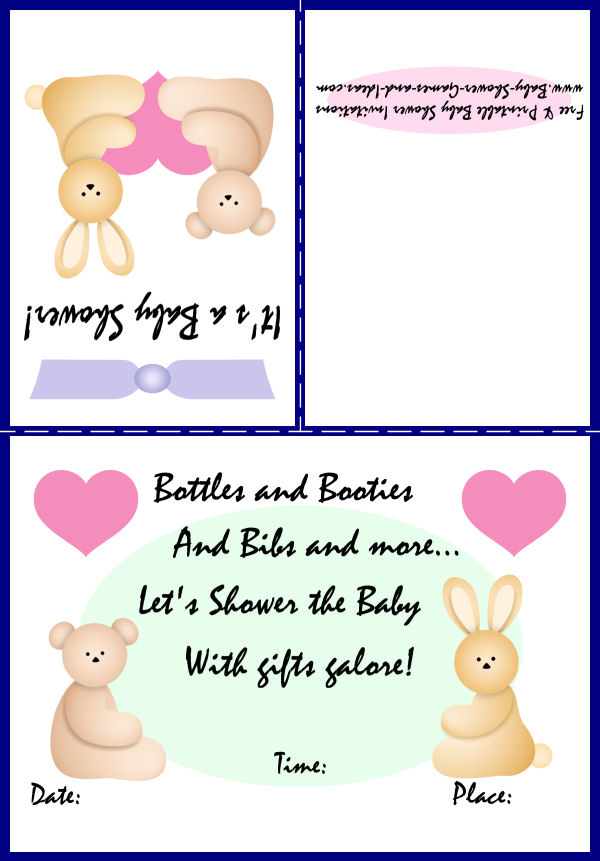 Baby Animal Shower Invitation 1a