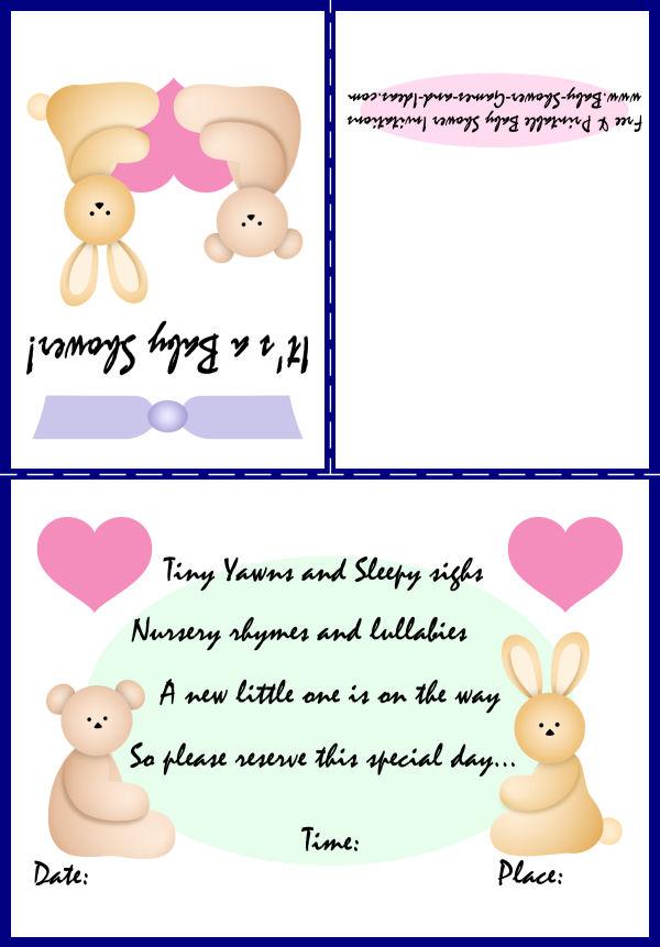 Baby Animal Shower Invitation 1b