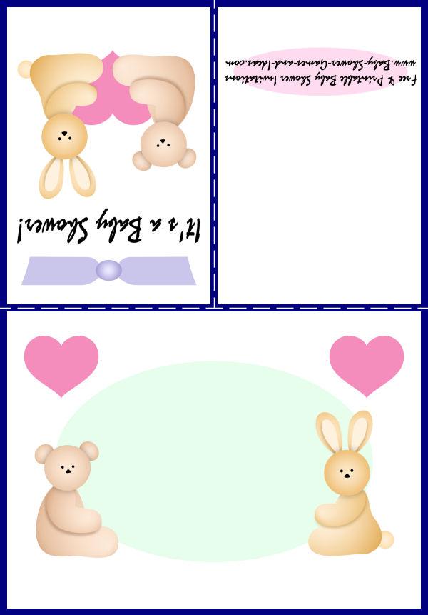 Baby Animal Shower Invitation 1C