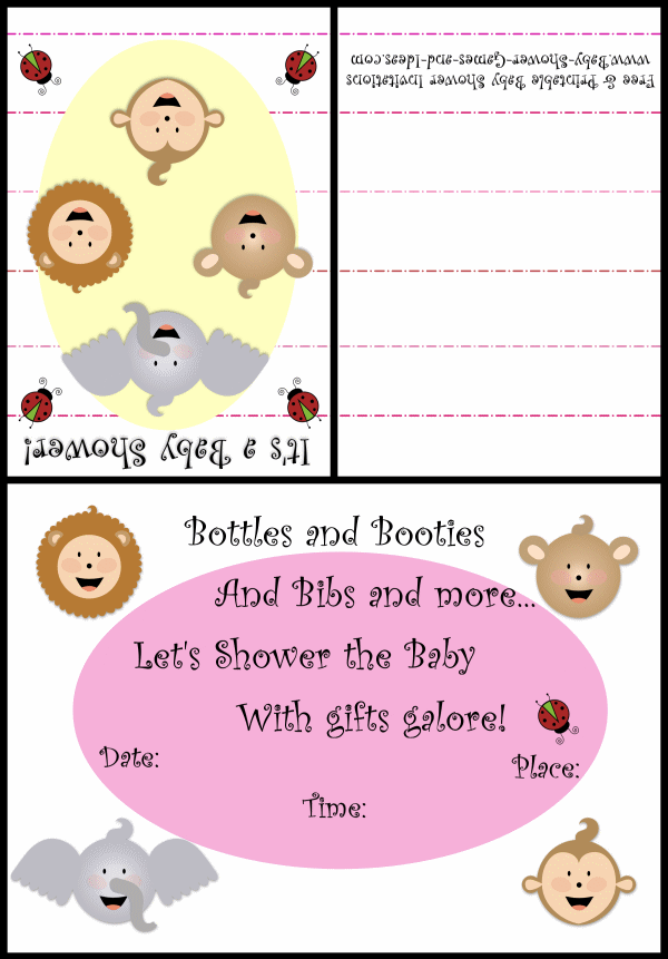 Baby Animal Shower Invitation 2a