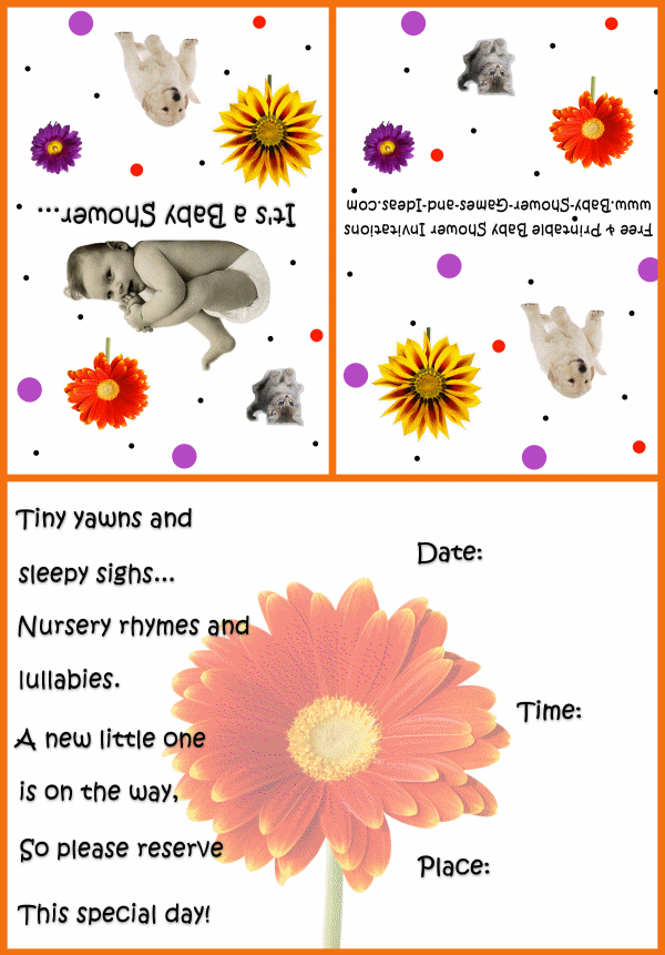 Baby Animal Shower Invitation 3b