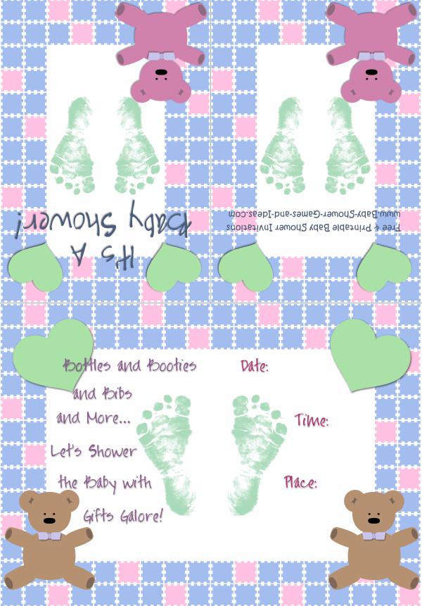 Baby Boy Shower Invitation 2A