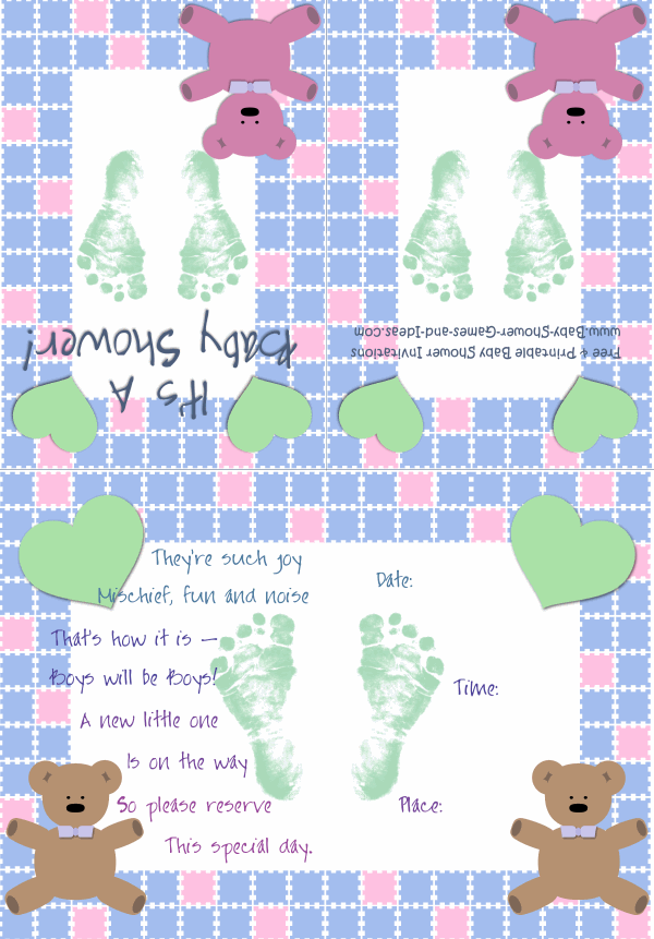 Baby Boy Shower Invitation 2B