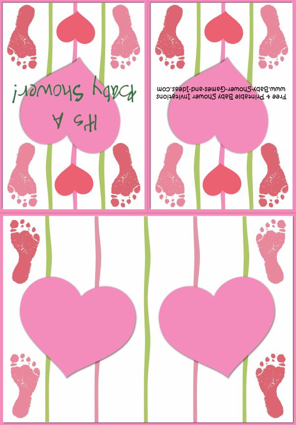 Baby Footprint Shower Invitation 3C