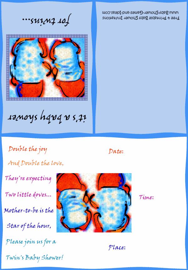 Twin Baby Shower Invitation 1b