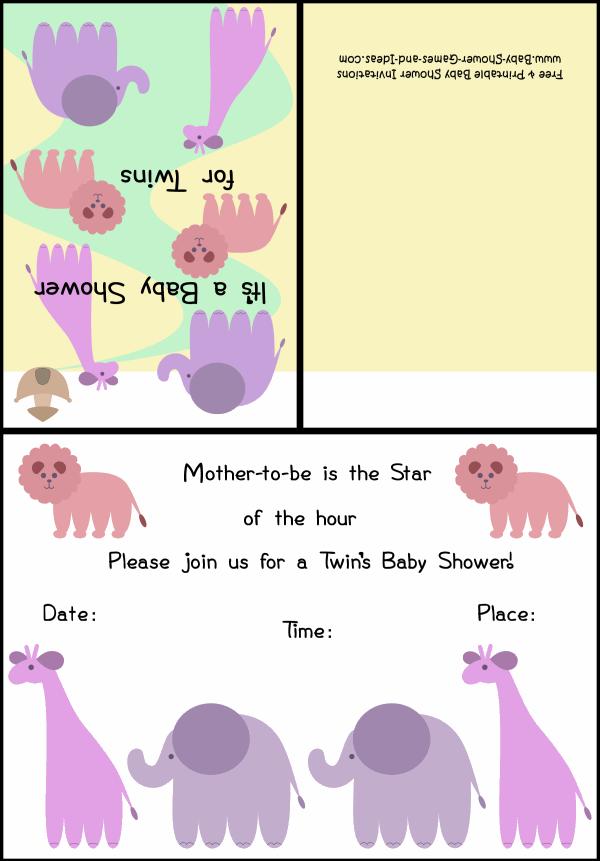 Twin Baby Shower Invitation 3b