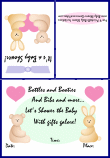 shower invitations with baby animals 1a