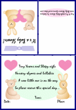 shower invitations with baby animals 1b