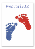 footprint baby shower invitations