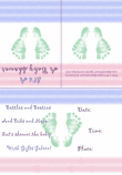 Baby Footprint Shower Invitation 1A