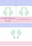 Baby Footprint Shower Invitation 1C