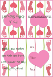 Baby Footprint Shower Invitation 3A